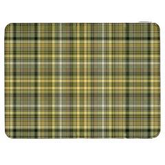 Yellow Plaid Samsung Galaxy Tab 7  P1000 Flip Case by snowwhitegirl