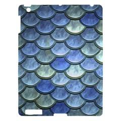 Blue Mermaid Scale Apple Ipad 3/4 Hardshell Case by snowwhitegirl