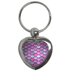 Pink Mermaid Scale Key Chains (heart)  by snowwhitegirl