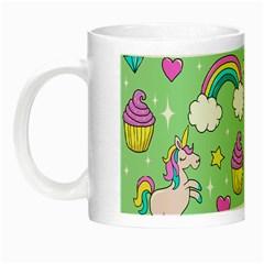 Cute Unicorn Pattern Night Luminous Mugs by Valentinaart