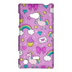 Cute Unicorn Pattern Nokia Lumia 720 by Valentinaart