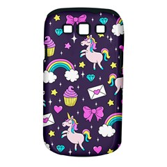 Cute Unicorn Pattern Samsung Galaxy S Iii Classic Hardshell Case (pc+silicone) by Valentinaart