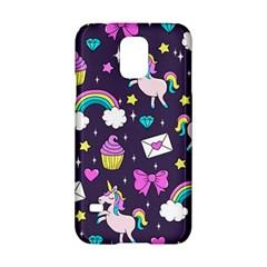 Cute Unicorn Pattern Samsung Galaxy S5 Hardshell Case  by Valentinaart