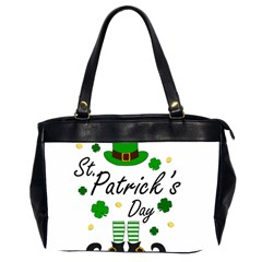 St Patricks Leprechaun Office Handbags (2 Sides)  by Valentinaart
