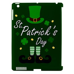 St Patricks Leprechaun Apple Ipad 3/4 Hardshell Case (compatible With Smart Cover) by Valentinaart