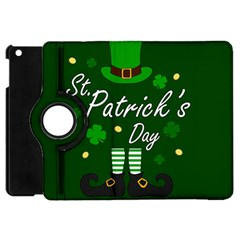St Patricks Leprechaun Apple Ipad Mini Flip 360 Case by Valentinaart