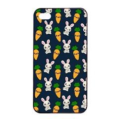 Easter Kawaii Pattern Apple Iphone 4/4s Seamless Case (black) by Valentinaart
