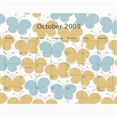 Girls Calendar By Joyfulviktory   Wall Calendar 11  X 8 5  (12 Months)   50bf4yxlj3ck   Www Artscow Com Oct 2009