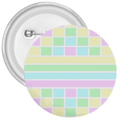 Geometric Pastel Design Baby Pale 3  Buttons by Nexatart