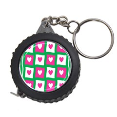 Pink Hearts Valentine Love Checks Measuring Tape by Nexatart