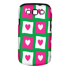 Pink Hearts Valentine Love Checks Samsung Galaxy S Iii Classic Hardshell Case (pc+silicone) by Nexatart