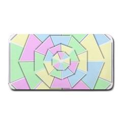 Color Wheel 3d Pastels Pale Pink Medium Bar Mats by Nexatart