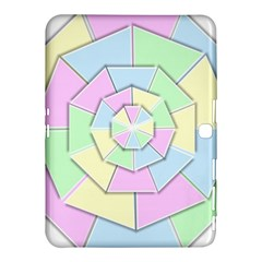 Color Wheel 3d Pastels Pale Pink Samsung Galaxy Tab 4 (10 1 ) Hardshell Case  by Nexatart