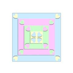 Hearts 3d Decoration Design Love Satin Bandana Scarf by Nexatart
