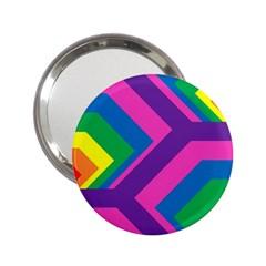 Geometric Rainbow Spectrum Colors 2 25  Handbag Mirrors by Nexatart