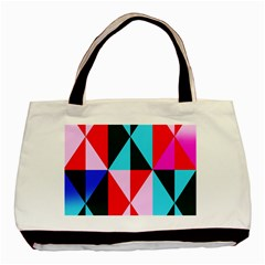 Geometric Pattern Design Angles Basic Tote Bag by Nexatart