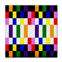 Rainbow Color Blocks Red Orange Tile Coasters by Nexatart