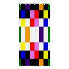 Rainbow Color Blocks Red Orange Shower Curtain 36  X 72  (stall)  by Nexatart