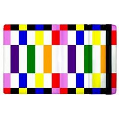 Rainbow Color Blocks Red Orange Apple Ipad 2 Flip Case by Nexatart
