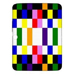 Rainbow Color Blocks Red Orange Samsung Galaxy Tab 3 (10 1 ) P5200 Hardshell Case  by Nexatart