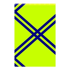 Stripes Angular Diagonal Lime Green Shower Curtain 48  X 72  (small)  by Nexatart