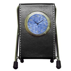 Texture Wood Slats Geometric Aztec Pen Holder Desk Clocks by Nexatart