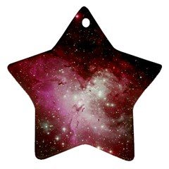Nebula Red Ornament (star) by snowwhitegirl