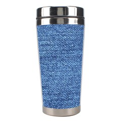 Blue Denim Stainless Steel Travel Tumblers by snowwhitegirl