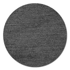 Black Denim Magnet 5  (round) by snowwhitegirl