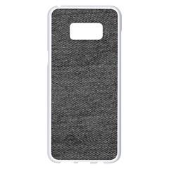 Black Denim Samsung Galaxy S8 Plus White Seamless Case by snowwhitegirl