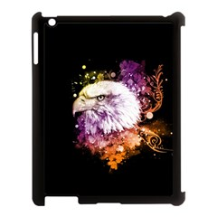 Awesome Eagle With Flowers Apple Ipad 3/4 Case (black) by FantasyWorld7