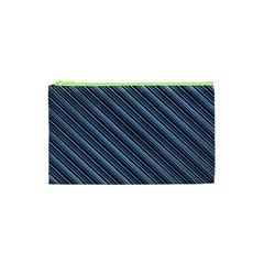 Diagonal Stripes Pinstripes Cosmetic Bag (xs) by Nexatart