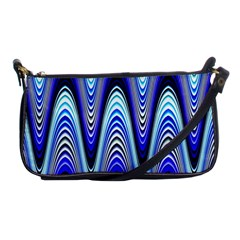 Waves Wavy Blue Pale Cobalt Navy Shoulder Clutch Bags by Nexatart