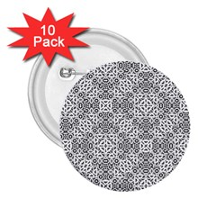 Black And White Oriental Ornate 2 25  Buttons (10 Pack)  by dflcprints