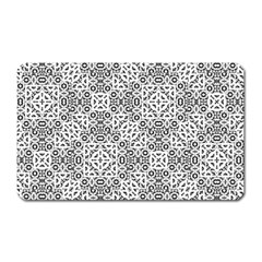 Black And White Oriental Ornate Magnet (rectangular) by dflcprints