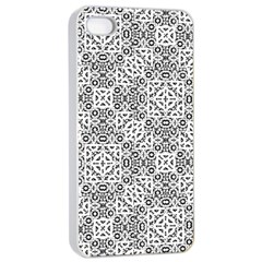 Black And White Oriental Ornate Apple Iphone 4/4s Seamless Case (white) by dflcprints