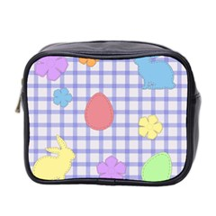 Easter Patches  Mini Toiletries Bag 2 Side by Valentinaart