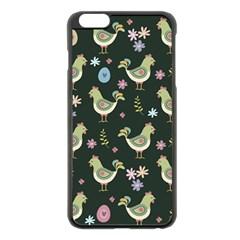 Easter Pattern Apple Iphone 6 Plus/6s Plus Black Enamel Case by Valentinaart