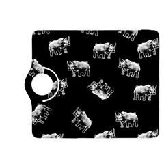 Rhino Pattern Kindle Fire Hdx 8 9  Flip 360 Case by Valentinaart