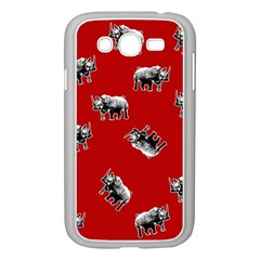 Rhino Pattern Samsung Galaxy Grand Duos I9082 Case (white) by Valentinaart