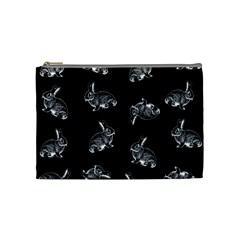 Rabbit Pattern Cosmetic Bag (medium)  by Valentinaart