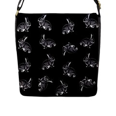 Rabbit Pattern Flap Messenger Bag (l)  by Valentinaart
