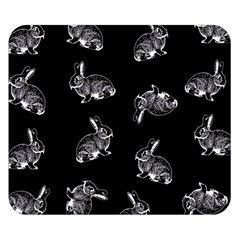 Rabbit Pattern Double Sided Flano Blanket (small)  by Valentinaart