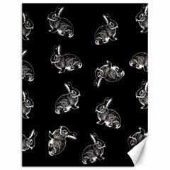 Rabbit Pattern Canvas 12  X 16   by Valentinaart
