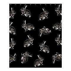 Rabbit Pattern Shower Curtain 60  X 72  (medium)  by Valentinaart