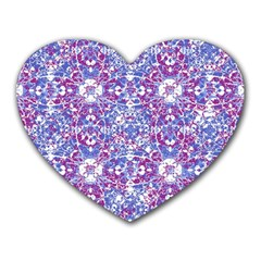 Cracked Oriental Ornate Pattern Heart Mousepads by dflcprints