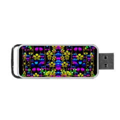 Flowers In The Most Beautiful  Dark Portable Usb Flash (two Sides) by pepitasart