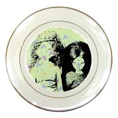 Mint Wall Porcelain Plates by snowwhitegirl