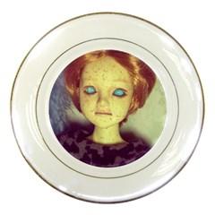 Freckley Boy Porcelain Plates by snowwhitegirl