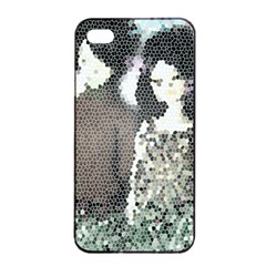 Dolls Stained  Glass Apple Iphone 4/4s Seamless Case (black) by snowwhitegirl